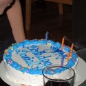 The birthday cake... Carvel, of course!
