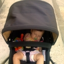 Sara loves to do errands in her stroller