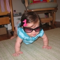 With mommy's fabulous shades!