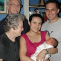 Grandpa, Great-Grandma, Mommy Rocio and Daddy