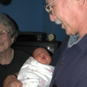 Grandpa and Great-Grandma with Julia
