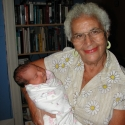 Great Great Aunt Bob holds Julia